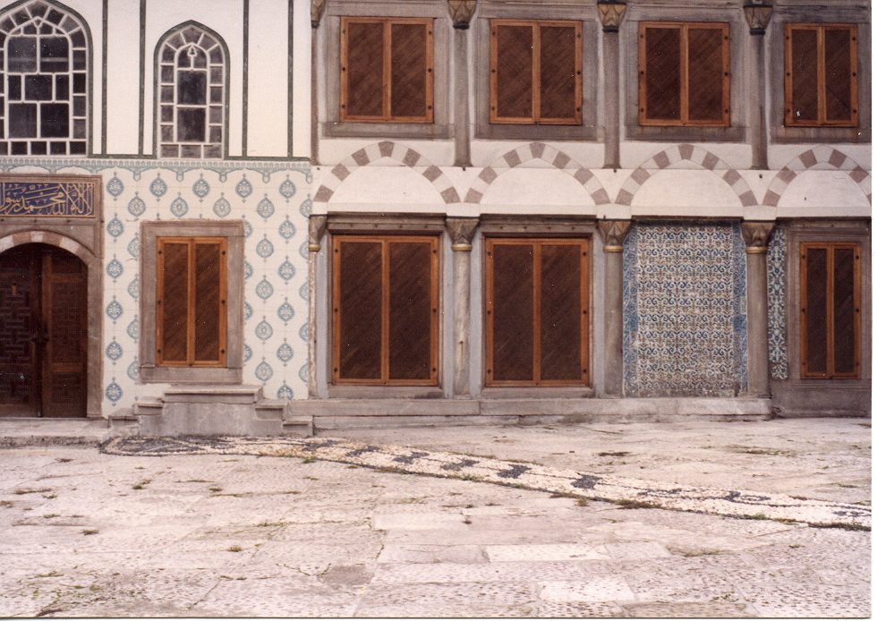 Courtyard at Topkapi Palace, Instanbul, Turkey (1991)